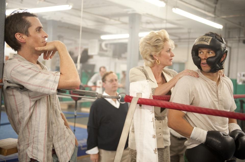 Christian Bale, Melissa Leo en Mark Wahlberg in The Fighter