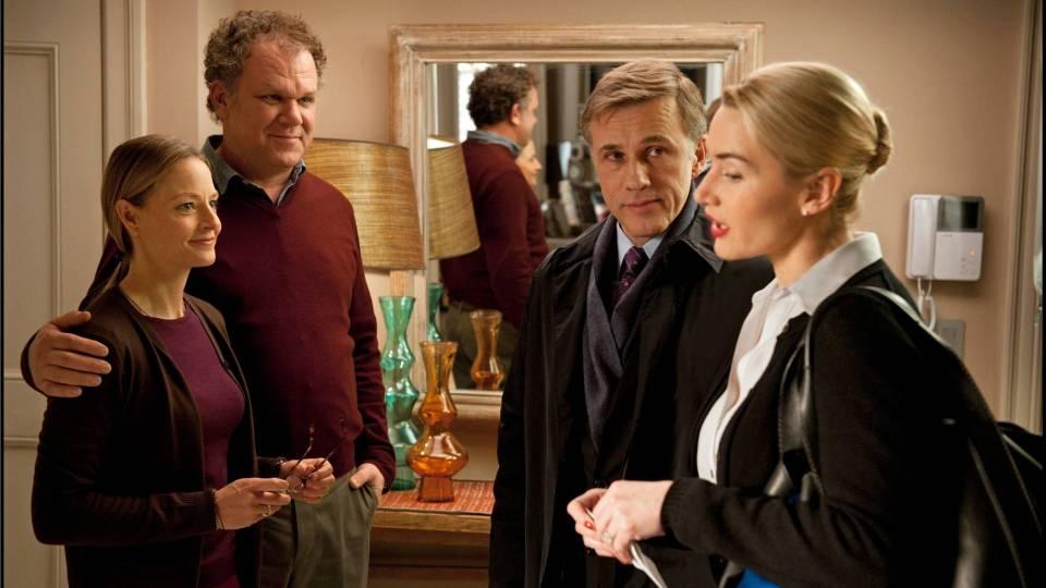 Jodie Foster, John C. Reilly, Christoph Waltz en Kate WInslet nog beschaafd in Carnage
