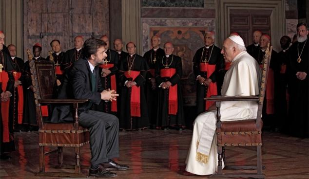Regisseur Nanni Moretti als psycholoog met paus Michel Piccoli