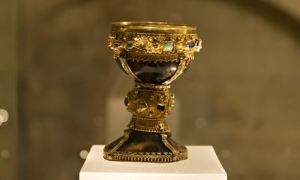 The goblet in the Basilica of San Isidoro in León, northern Spain